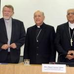 Monseñor Norberto Strotmann, Monseñor Pedro Barreto y Monseñor Miguel Cabrejos rubrican el comunicado. Foto: Conferencia Episcopal Peruana