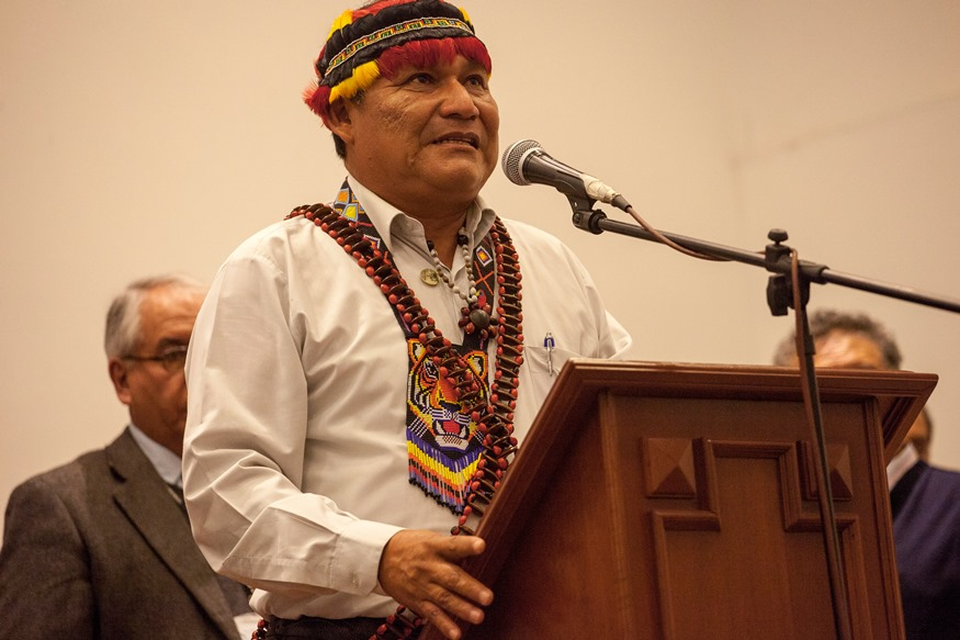 """Wrays Pérez, líder wampis: """"Decimos no a la Geopark porque no está cumpliendo los estándares internacionales para evitar la contaminación"""""""