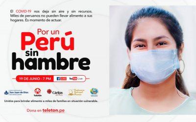 Fundación Teletón y Conferencia Episcopal Peruana presentan «Por un Perú sin hambre»