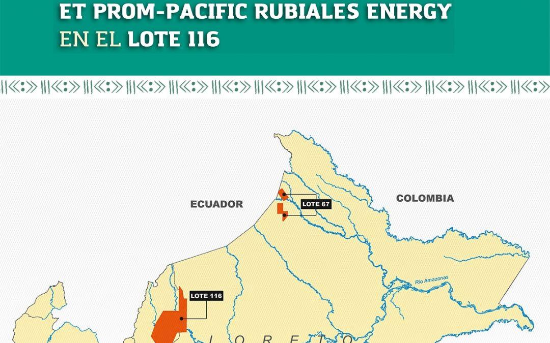 Presentación del Informe: ESTUDIO SOBRE LA ACTUACIÓN DE LAS EMPRESAS PETROLERAS PERENCO EN EL LOTE 67 Y MAUREL ET PROM-PACIFIC RUBIALES ENERGY EN EL LOTE 116