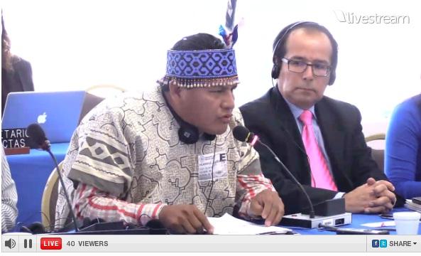 Transmisión en vivo en la CIDH: Situación de derechos humanos de la comunidad indígena urbana en el barrio de Cantagallo