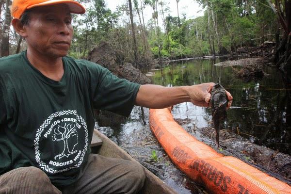 Cuninico sufre los estragos de nuevo derrame en la selva peruana