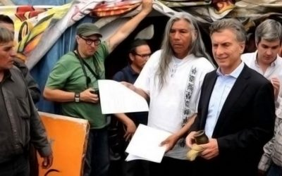 Argentina: Macri firmó un acta de compromiso para dialogar «con los pueblos indígenas sin intermediarios»