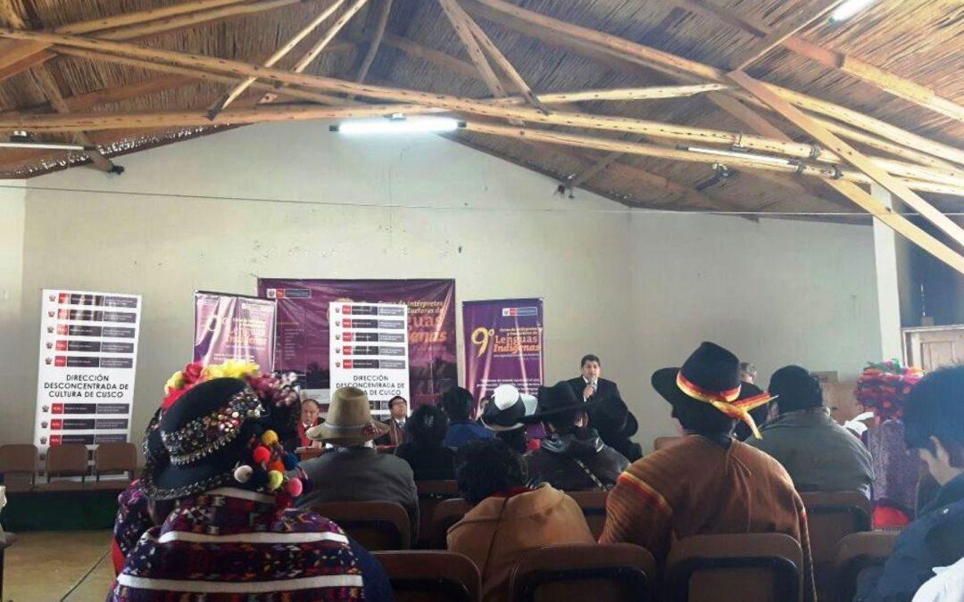 Forman intérpretes y traductores en lenguas indígenas en región Cusco