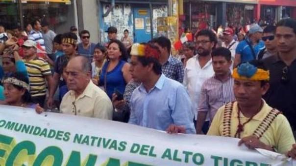 Iquitos: protestan por baja recaudación del canon petrolero