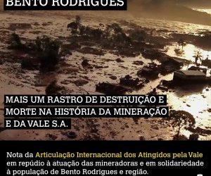 Brasil: Otro rastro de destrucción y muerte en la historia de la minería y de la empresa Vale S.A. – Nota de la Articulación Internacional de Afectados y Afectadas por Vale S.A.