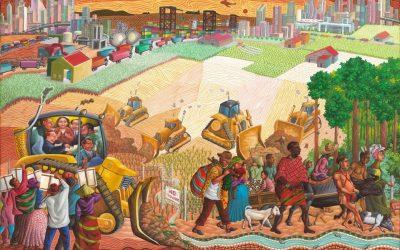 Estas pinturas representan la lucha de los pueblos indígenas contra la explotación en Filipinas