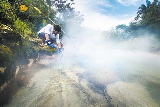 El río que hierve en el Amazonas