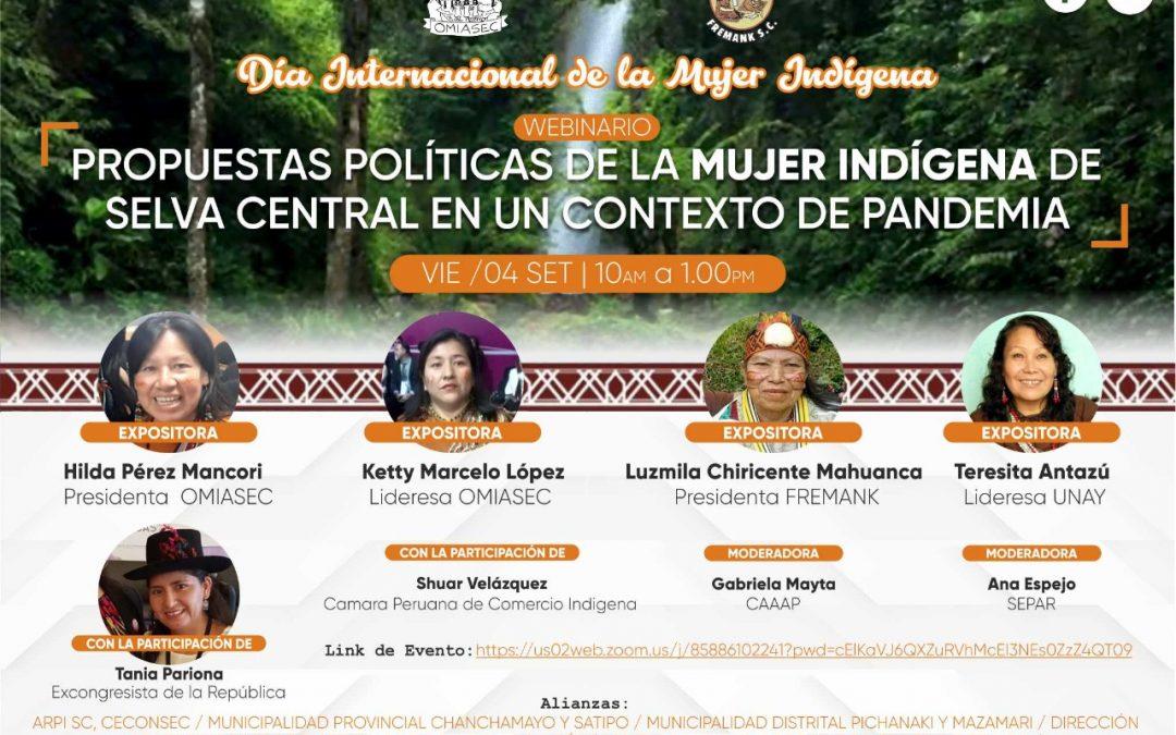 Día de la Mujer Indígena: Selva Central escuchará las propuestas de lideresas para promover nuevas políticas y compromisos