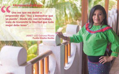 [PODCAST_#AmazoníaEsMujer] Janet, emprendiendo y transmitiendo el arte shipibo desde la libertad