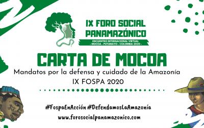 Colofón al IX FOSPA: Carta de Mocoa recoge el sentir de nueve países de Latinoamérica