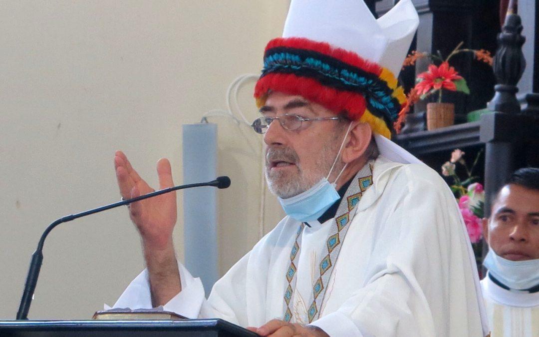 """Me siento animado por el Espíritu"". Jesús María Aristín asume como obispo de Yurimaguas"