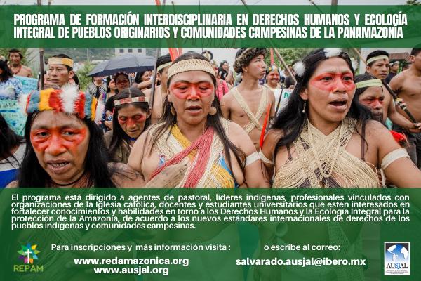 Oportunidad de formación: REPAM impartirá programa con enfoque en derechos humanos y ecología integral de los pueblos de la Panamazonía