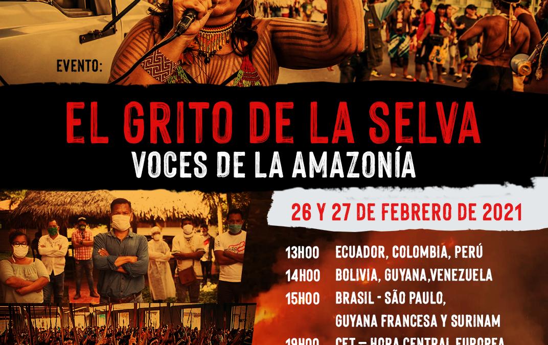 Pueblos indígenas y organizaciones amazónicas piden unirse al 'Grito de la Selva'