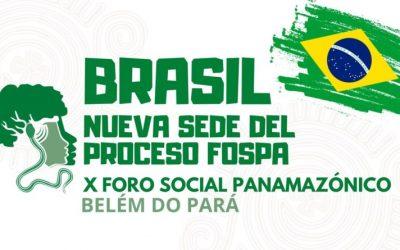 Belém do Pará (Brasil) será la sede del X Foro Social Panamazónico (FOSPA) 2022