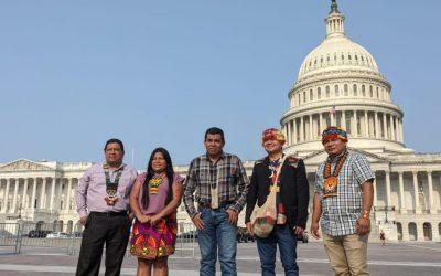 Comitiva de líderes indígenas llega a Washington D.C. en defensa de los territorios y la vida