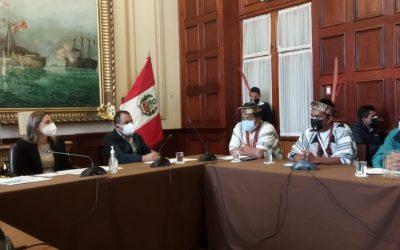 """Líderes asháninkas, en reunión con la presidenta del Congreso: """"No se pueden crear distritos sin proceso de Consulta Previa"""""""