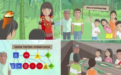 Niños y niñas awajún fortalecen su identidad cultural y la defensa del territorio con las aventuras de Grimilda y Ayui